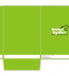 Grafický návrh desek Radost bydlet