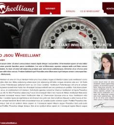 Grafický návrh webu Wheelliant